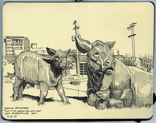"""Scottish Angus Cow and Calf,"" Dan Ostermiller, Denver Art Museum"