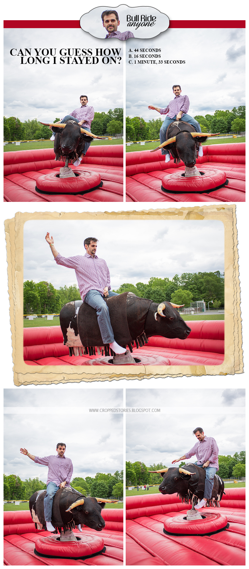 MAN ON BULL RIDE