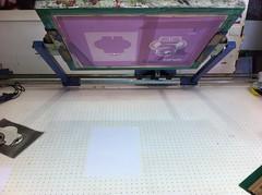 Première feuille prête à imprimer pour le premier passage, le rouge
