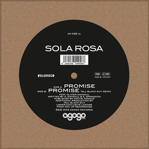"Promise 7"" out 14th August through Agogo Records"