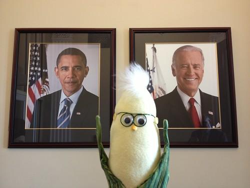 Frank visits the President