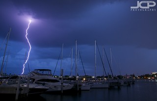 Lightning Strike in St. Petersburg Florida Fine Art Photography