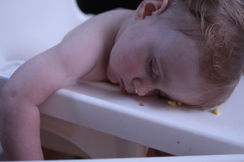 Martin Asleep in High Chair