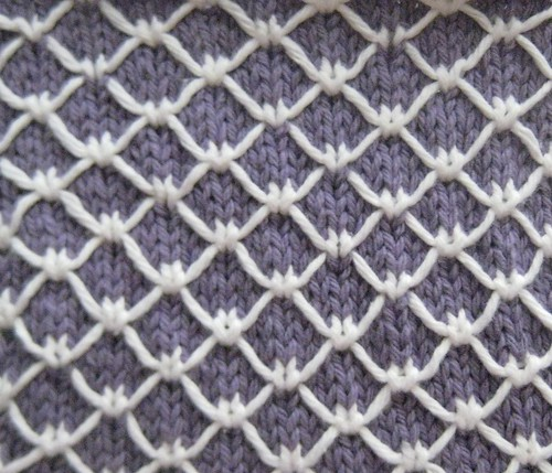 Knitting Quilted Lattice Stitch : Royal quilting the walker treasury project
