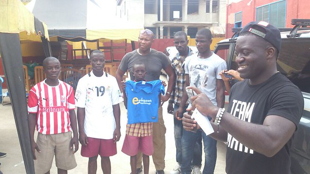 Jonathan Mensah donates to Royal See Orphanage Home