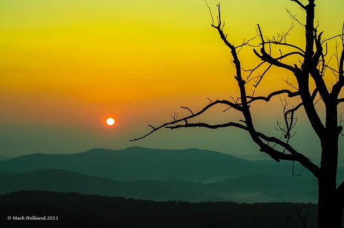 mountains yellow sunrise landscape dawn virginia nikon country shenandoah