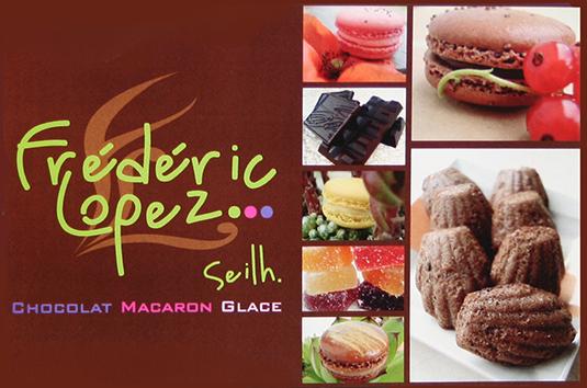 Création et impression des flyers de la chocolaterie Lopez à Seilh (31).
