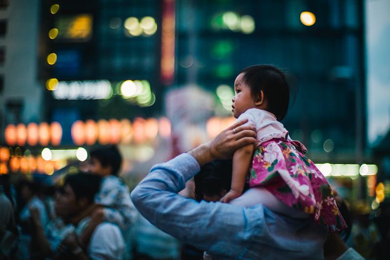 恵比寿駅前盆踊り。