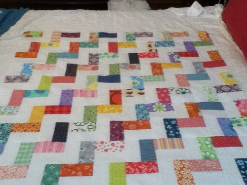 Steps quilt top #1