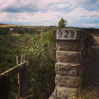 Walking the old railway bridge at Cullen.