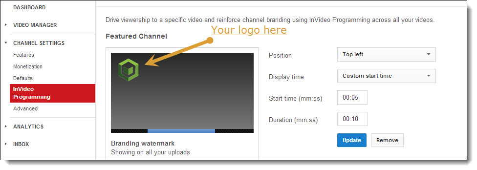 how to add logo to YouTube video