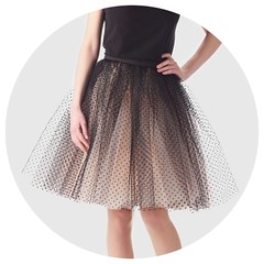 Tutu Skirt with Black Dots