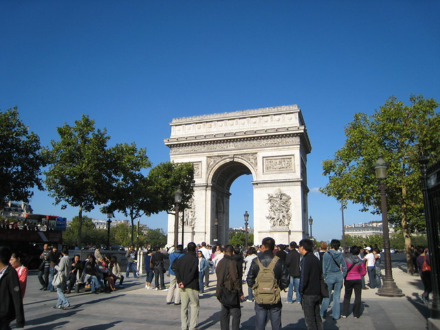 040 paris avenue des champs elysees arc de triomphe de flickr photo sharing. Black Bedroom Furniture Sets. Home Design Ideas