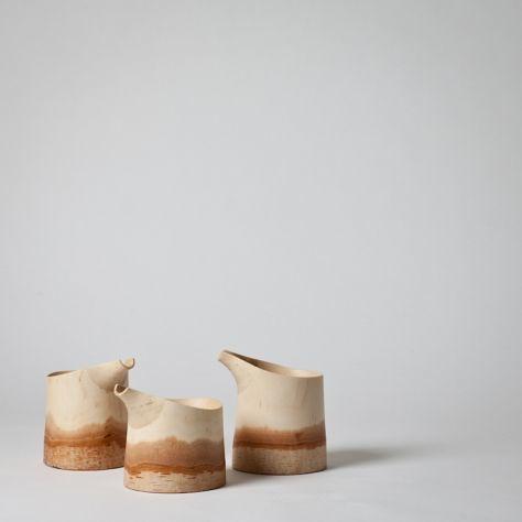 Birch sake pot
