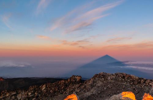 shadow sky mountain colour skyline clouds sunrise volcano spain day hiking climbing tenerife summit teide canaryislands laorotava 2013 pwpartlycloudy
