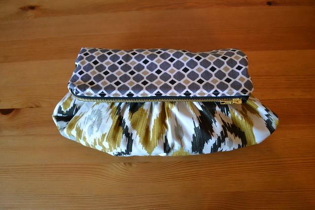 Fold Over Zipper Clutch