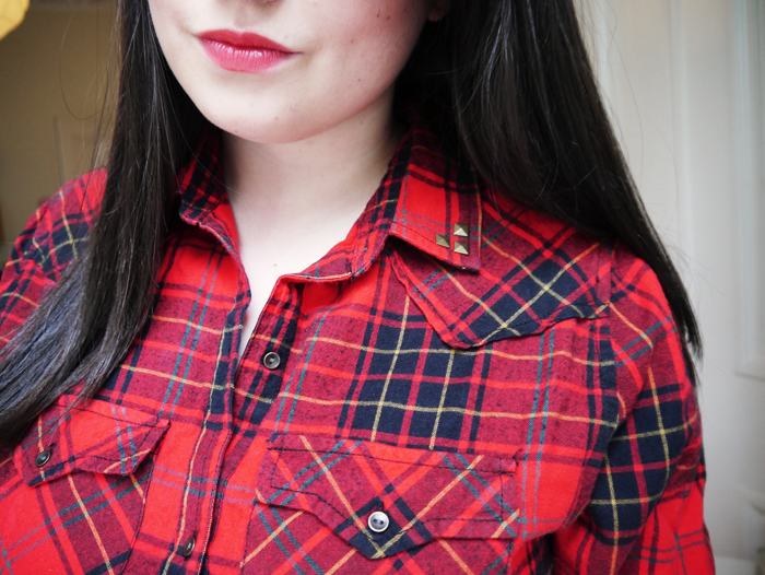 how to wear grunge plaid trend outfit 9
