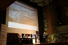 Science panel on stage - at AMOS event: The IPCC Climate Change Science Report 2013 - Insights from Australian scientists