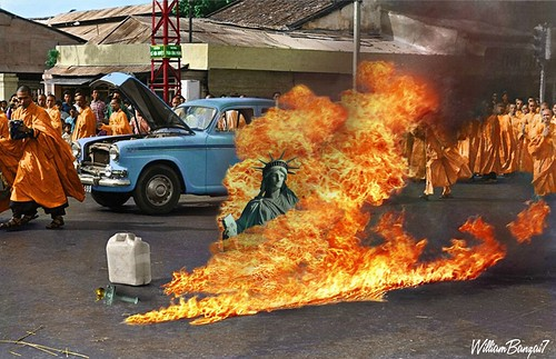 THE IMMOLATION OF LIBERTY by WilliamBanzai7/Colonel Flick