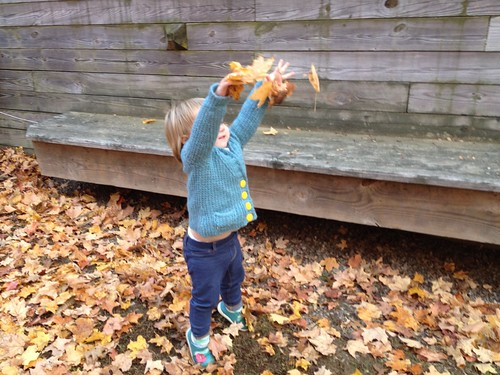 Throwing leaves
