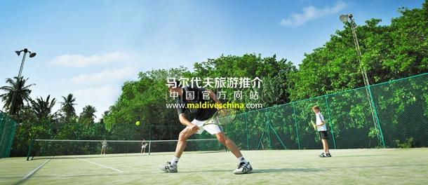 班度士岛(Bandos Island Resort & Spa)天堂俱乐部网球活动