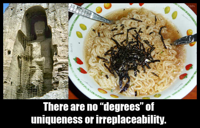 There are no degrees to irreplaceability