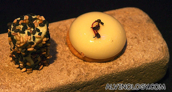 Welcome Aperitif - small complementary snacks to start off any meal orders at LP + Tetsu