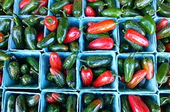 flower(0.0), plant(0.0), food preservation(0.0), cayenne pepper(1.0), chili pepper(1.0), bell pepper(1.0), vegetable(1.0), peppers(1.0), bell peppers and chili peppers(1.0), bird's eye chili(1.0), peperoncini(1.0), green(1.0), produce(1.0), food(1.0), pimiento(1.0), jalapeã±o(1.0),