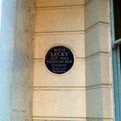 Photo of W. E. H. Lecky blue plaque