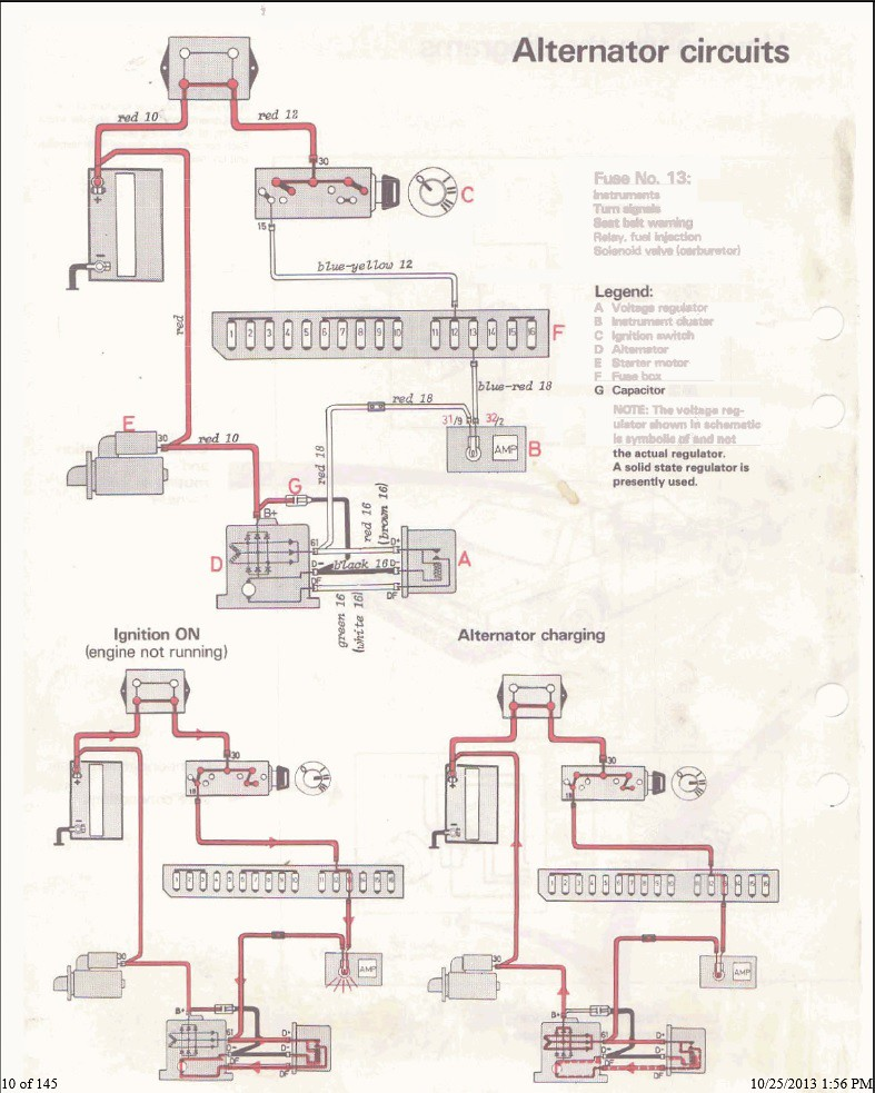 Alterntator Wiring Help, '81 Volvo 240 Ls1tech Camaro And Starter Wiring Diagram 1992 240 Volvo 1998 Volvo S70 Alternator Bolt Diagram On To Send The Wire For The Charge (battery) Lamp To On The Camaro Alternator The Plug Currently Has Only A Single Wire Any Help Is Greatly Appreciated