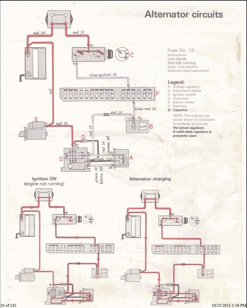 Alterntator Wiring Help   U0026 39 81 Volvo 240 - Ls1tech
