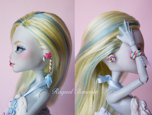 "Repaint OOAK Commission Monster high Lagoona Blue ""Sweet Collection"""