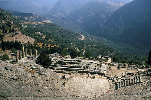 travel film 35mm ruins europe 1988 delphi slide unesco greece olympics worldheritage scannedslide fokida delfoi thessaliastereaellada