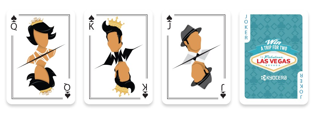 Deck of illustrated playing cards
