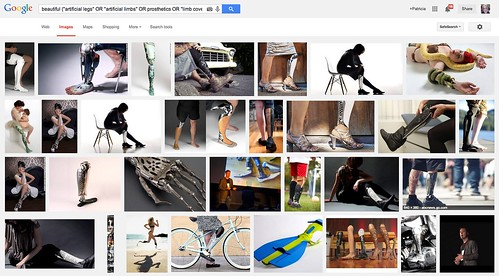 Screen shot: Google Image Search for Beautiful Prosthetics