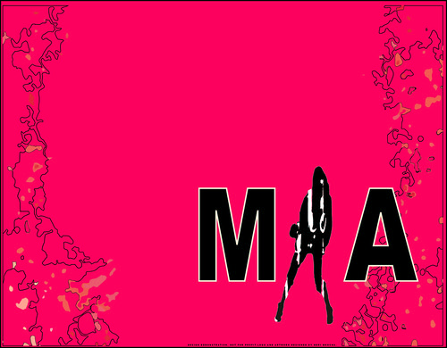 MIA Desktop Wallpaper Demo [Fuschia - Hot Pink]