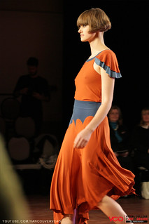 VCAD ONwards Fashion Show 2013 – Sun Orange Long Dress by Zoe Collins