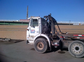 AW Allied Waste Services WHITEGMC Xpeditor Amrep roll-off