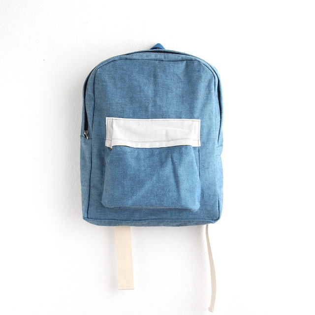 denim ziazia backpack.