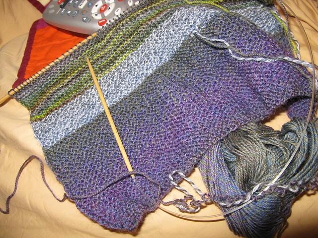 sock yarn blankie