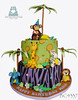BC4337-2-tier-jungle-birthday-cake-toronto