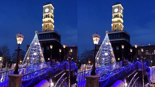 [Daily Cha cha S3-D] Shiroi Koibito Park at Sapporo Hokkaido. Cross eye 札幌、白い恋人パーク。交差法。