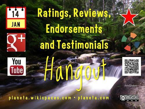 Ratings, Reviews, Endorsements and Testimonials 01.2014