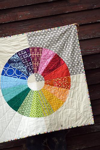 via my Wheel Quilt pattern