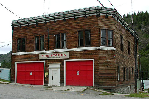 Greenwood Fire Station, Greenwood, Boundary Country, British Columbia, Canada