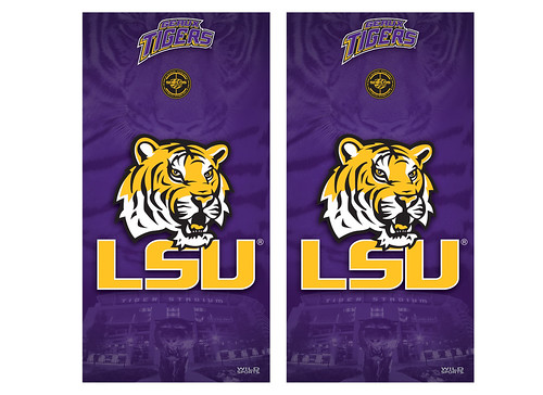 LSU Cornhole Game Decal Set