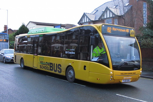 GB Coaches, Optare Versa, YJ12 GXU, Stockport Road West, Bredbury