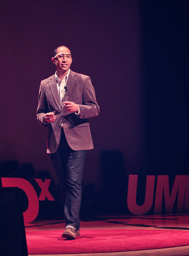Ramsey Mohsen speaking at TEDx UMKC