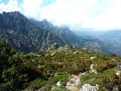 Trace de Quarcitellu : plateau sous l'aiguille 1005m au point extrême atteint