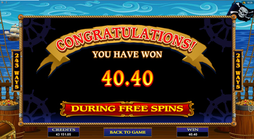 Loose Cannon Free Spins Win